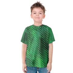 Green Abstract Forest Kids  Cotton Tee