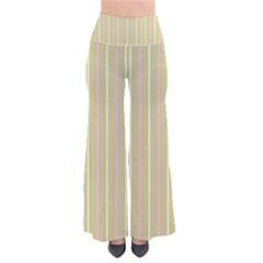 Summer Sand Color Pink And Yellow Stripes Women s Chic Palazzo Pants