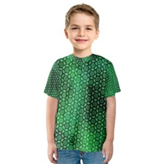 Green Abstract Forest Kids  Sport Mesh Tee