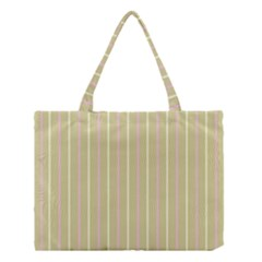 Summer sand color pink and yellow stripes Medium Tote Bag