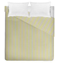 Summer Sand Color Lilac Stripes Duvet Cover Double Side (queen Size)