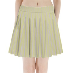Summer sand color lilac stripes Pleated Mini Skirt