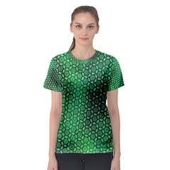 Green Abstract Forest Women s Sport Mesh Tee