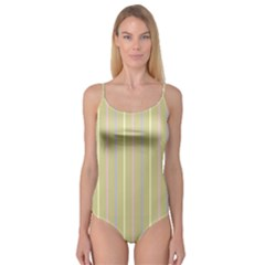 Summer sand color lilac pink yellow stripes pattern Camisole Leotard