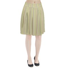 Summer sand color lilac pink yellow stripes pattern Pleated Skirt