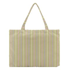 Summer sand color lilac pink yellow stripes pattern Medium Tote Bag