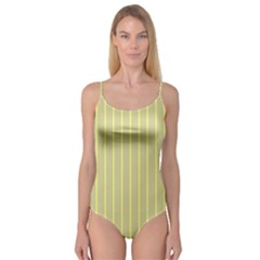 Summer sand color yellow stripes pattern Camisole Leotard