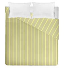 Summer Sand Color Yellow Stripes Pattern Duvet Cover Double Side (queen Size)