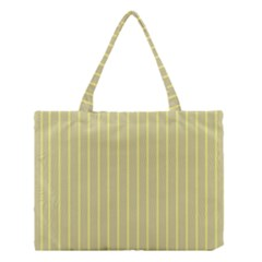 Summer sand color yellow stripes pattern Medium Tote Bag
