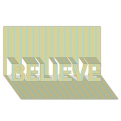 Summer Sand Color Blue Stripes Pattern Believe 3d Greeting Card (8x4)
