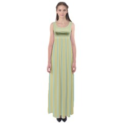 Summer Sand Color Blue Stripes Pattern Empire Waist Maxi Dress