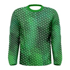 Green Abstract Forest Men s Long Sleeve Tee