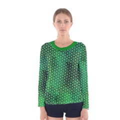 Green Abstract Forest Women s Long Sleeve Tee