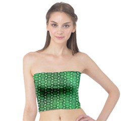 Green Abstract Forest Tube Top