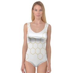 Honeycomb pattern graphic design Princess Tank Leotard