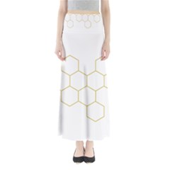 Honeycomb pattern graphic design Women s Maxi Skirt