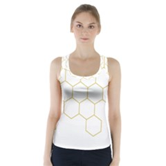 Honeycomb Pattern Graphic Design Racer Back Sports Top