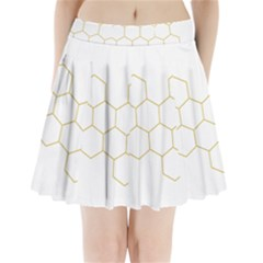 Honeycomb pattern graphic design Pleated Mini Skirt