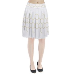 Honeycomb pattern graphic design Pleated Skirt