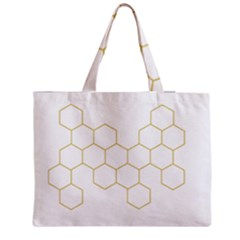 Honeycomb pattern graphic design Medium Tote Bag