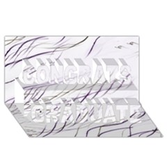 Lilac Stripes Congrats Graduate 3d Greeting Card (8x4)