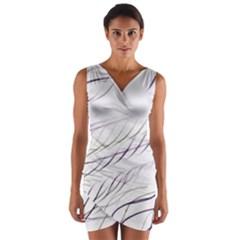 Lilac stripes Wrap Front Bodycon Dress