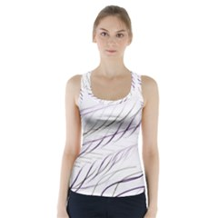Lilac Stripes Racer Back Sports Top
