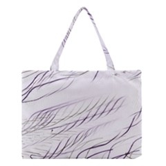 Lilac Stripes Medium Tote Bag