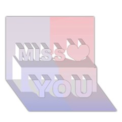 Colorful colors Miss You 3D Greeting Card (7x5)