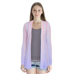 Colorful Colors Drape Collar Cardigan