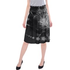 Silver feather and ball decoration Midi Beach Skirt