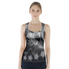 Silver feather and ball decoration Racer Back Sports Top