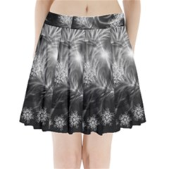 Silver feather and ball decoration Pleated Mini Skirt