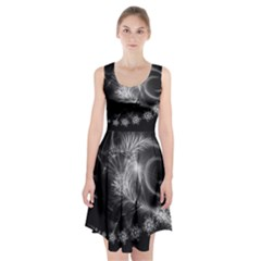 Silver feather and ball decoration Racerback Midi Dress