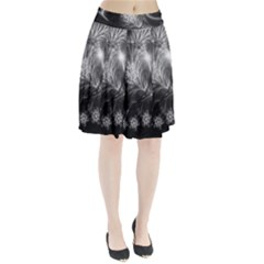 Silver Feather And Ball Decoration Pleated Skirt