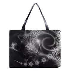 Silver feather and ball decoration Medium Tote Bag