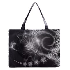 Silver feather and ball decoration Medium Zipper Tote Bag
