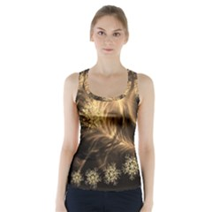 Golden Feather And Ball Decoration Racer Back Sports Top