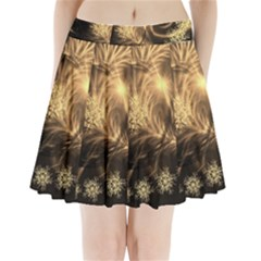 Golden feather and ball decoration Pleated Mini Skirt