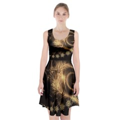 Golden feather and ball decoration Racerback Midi Dress