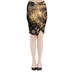 Golden feather and ball decoration Midi Wrap Pencil Skirt