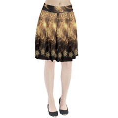 Golden feather and ball decoration Pleated Skirt