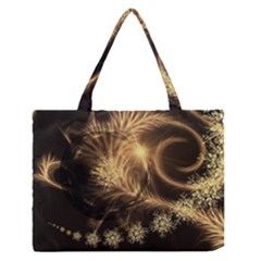 Golden Feather And Ball Decoration Medium Zipper Tote Bag