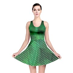 Ombre Green Abstract Forest Reversible Skater Dress