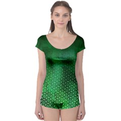 Ombre Green Abstract Forest Boyleg Leotard