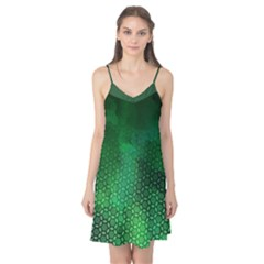 Ombre Green Abstract Forest Camis Nightgown
