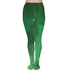 Ombre Green Abstract Forest Tights