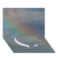 Rainbow In The Sky Circle Bottom 3d Greeting Card (7x5)