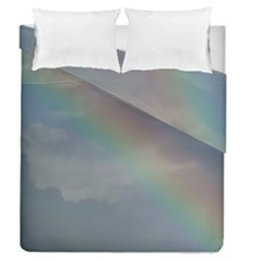 Rainbow In The Sky Duvet Cover Double Side (queen Size)