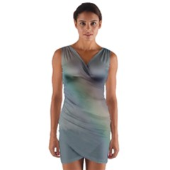Rainbow in the sky Wrap Front Bodycon Dress